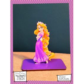 Souvenir Evento Aplique Madera 10cm Princesa Disney Rapunzel