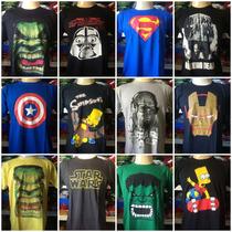 Lote Com 100 Camisetas De Personagens Atacado Revenda