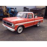 Ford F100 Ano 1980 Motor 2.3 Gasolina 4 Cilindros