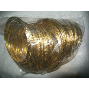 Gcg 1 Bolsa Pulseras De Metal Doradas Y Plateadas Niñas Idd