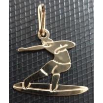 Pingente Surf (medina; Mineirinho) = Folheado A Ouro 18k