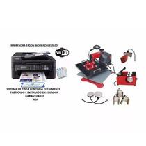 Impresora Epson Sublimación Wifi A4 + Sublimadora 8 En 1