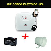 Kit Cerca Eletrica Jfl Ecr 18 Com Sirene E Bateria Promocao