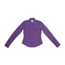 Camisa Xadrez Infantil Feminina Abercrombie & Fitch