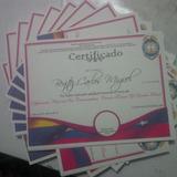 Certificados Diplomas Y Reconocimientos Tamaño Carta