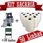 Máquina De Costurar Sacos + 30 Agulhas + 50 Linhas