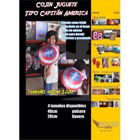 Escudo Capitan America De Tela Se Coloca En El Brazo
