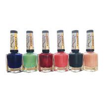 Esmaltes Coleção Fosca - La Femme - Kit Completo 6 Cores