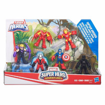 Playskool Super Hero Adventures Esquadrão Da Selva 6 Bonecos