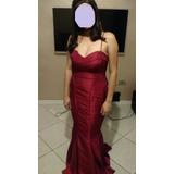 Lindo Vestido Sereia Cor Vermelho/vinho - Madrinha