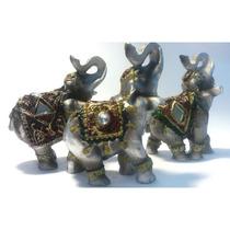 Elefante Mini Kit Decoração Sorte Sabedoria Resina Importado