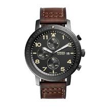 Relógio Masculino Fossil Ch3086/2pn Pulseira Couro Marrom