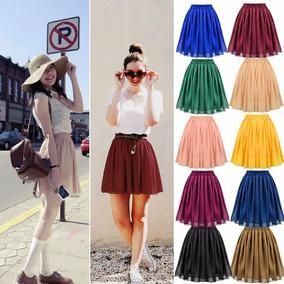 Lote 15 Faldas Tela Gasa Varios Colores Moda
