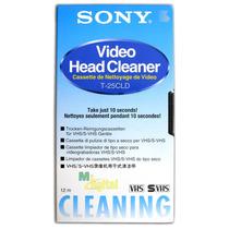 Fita De Limpeza Vhs S-vhs Video Cassete Cabeçote - Sony Orig
