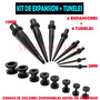16 Expansores + Tuneles ,juego Completo Expansion Piercing