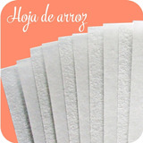 Hojas De Arroz Papel Comestible Paquete De 25 Hojas