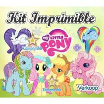 Kit Imprimible Mi Pequeño Pony My Little Ponny Candy Bar