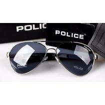 Óculos De Sol Aviador Police Polarizado Proteção Uva Uvb