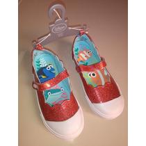 Hermosos Zapatos Americanos Marca Disney Para Niña Nemo