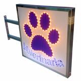 Carteles Led Veterinaria 60x60 Cm - Doble Faz - Luminosos