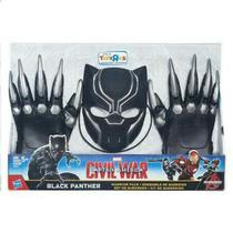 Civil War Black Panther Máscara Garras Disfraz Pantera Negra