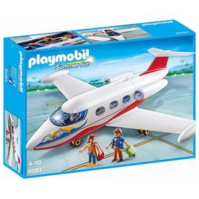Playmobil Avion Jet Privado Piloto Y Pasajeros