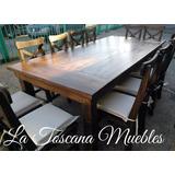 Mesas De Quincho (2.40x1.20) + 12 Sillas A Eleccion