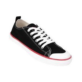 Zapatillas Levis Hombre Nothy Negra Roja Todos Los Talles