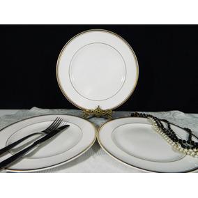 Juego 6 Platos Llanos Porcelana Hartford Bone China 25 Cm
