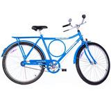 Bicicleta Monark Barra Circular Fi Azul Aro 26 Freio Caneta