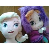 Muñecas Peluches Frozen Ana Y Elsa Tamaño 45 Cm