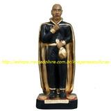 Imagem Exu Do Ouro Estatua 20cm Capa Preta Dourada Moeda