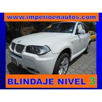 Bmw X3 M Sport 2007 Blindada Nivel 3