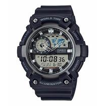 Casio Aeq-200w-1avcf World Time Illuminator Hora Mundial
