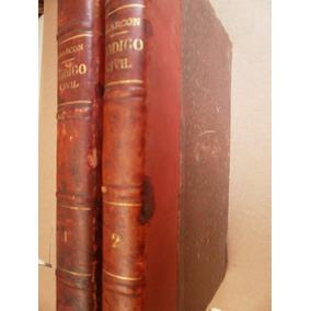 Estudios Sobre El Codigo Civil Del Df 2 Tomos Mexico 1885