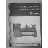 Manual De Instruções Tornoromi Universal Tormax 30/ 30a /30b