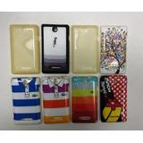 Kit Capa Para Celular Sony Xperia Edual C1604 Com 8 Unidades