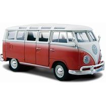 Maisto 1/25 Volkswagen Combi Samba Bus 23 Ventanas Metal !!