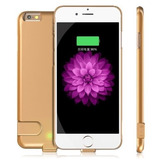 Funda Batería 60% Ultra Slim 2000mah Iphone 6 6s Plus Dorado