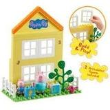 Peppa Pig - Bloques Para Construir La Casa Y 2 Figuras