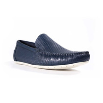 Fabian Arenas Slip On En Color Marino Texturizado