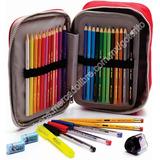 Faber Castell 24 Colores Estuche 34 Pzs. Accs Escuela Dibujo