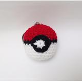 Llavero Pokebola Amigurumi Crochet