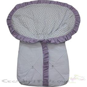 Porta Bebe Em Tecido - Enxoval Maternidade Bordado Arca Az
