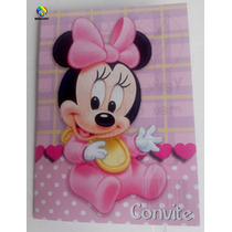 Convite Aniversario Minnie Baby (10 Unidades)