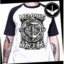 Camiseta Raglan Memphis My Fire Ou Baby Lock Rock Banda