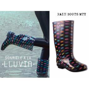 Botas De Lluvia Baratas Estampadas / Rain Boots Agua De Moda
