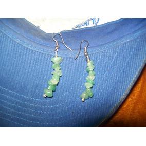 Gcg Aretes De Cuarzo Verde Jade