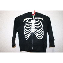 Disfraz Sudadera Calaca Huesos Esqueleto Niño Halloween