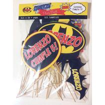 24 Carteles Props Para Fiestas Batman